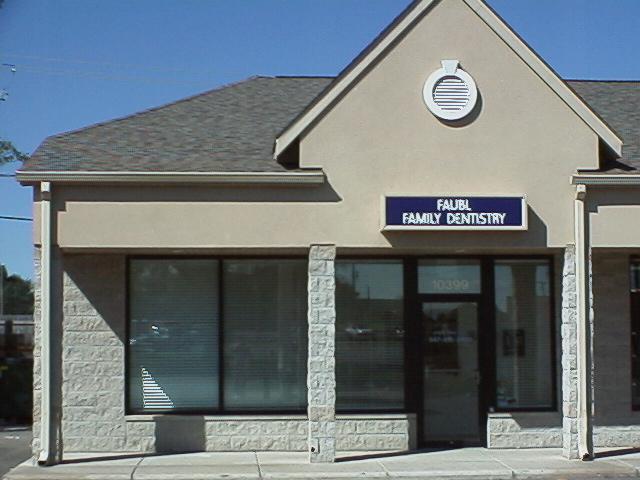 Faubl family dentistry for Dental office exterior design